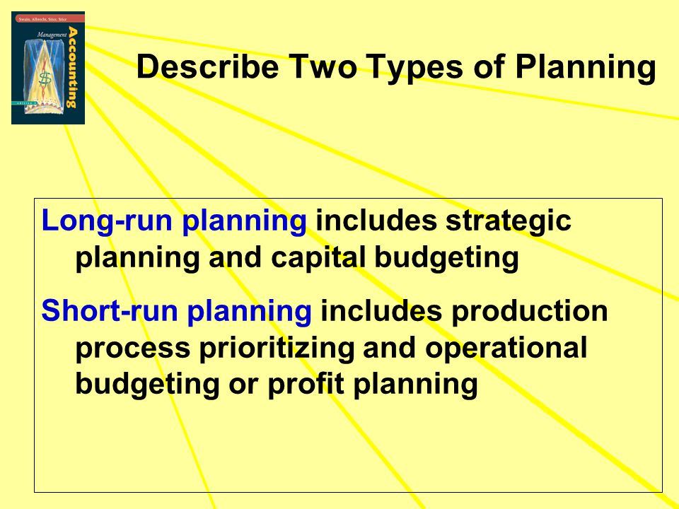 Describe Two Types of Planning