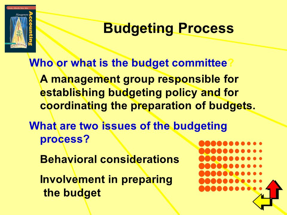 Budgeting Process Who or what is the budget committee