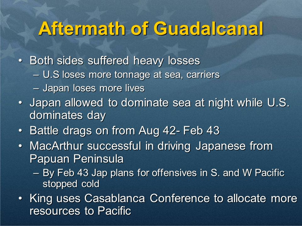 Aftermath of Guadalcanal