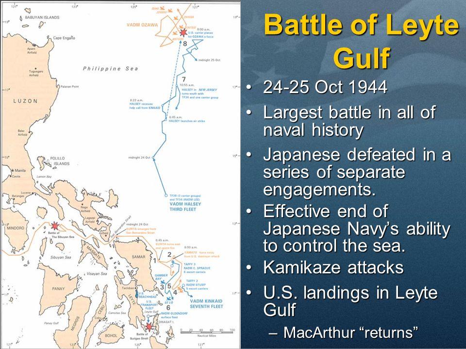 Battle of Leyte Gulf 24-25 Oct 1944