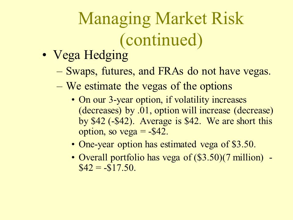 Managing Market Risk (continued)