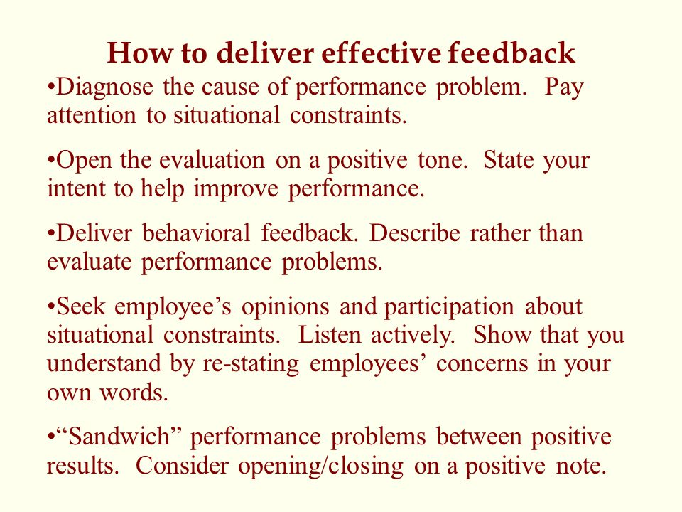 How to deliver effective feedback