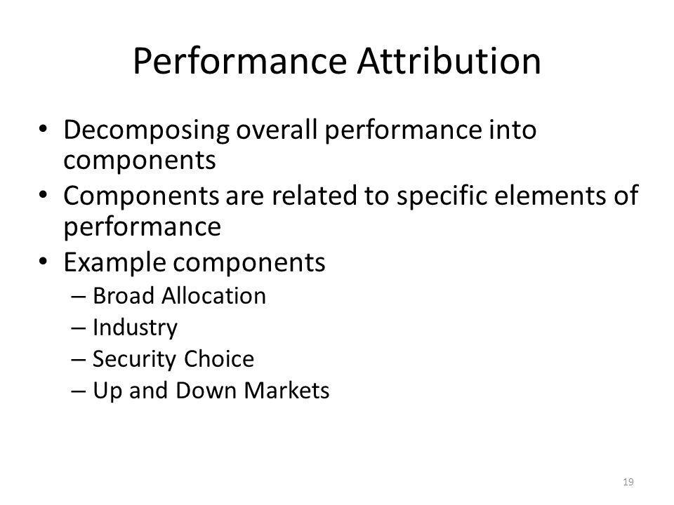 Performance Attribution