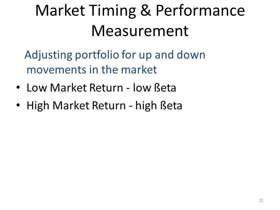 Market Timing & Performance Measurement