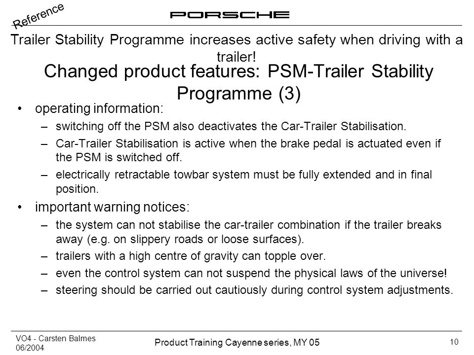 Changed product features: PSM-Trailer Stability Programme (3)