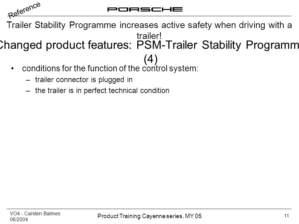 Changed product features: PSM-Trailer Stability Programme (4)