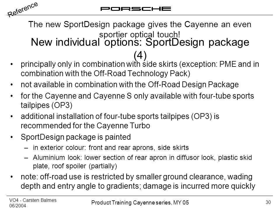 New individual options: SportDesign package (4)