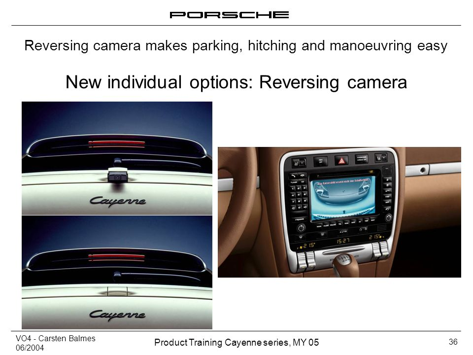New individual options: Reversing camera
