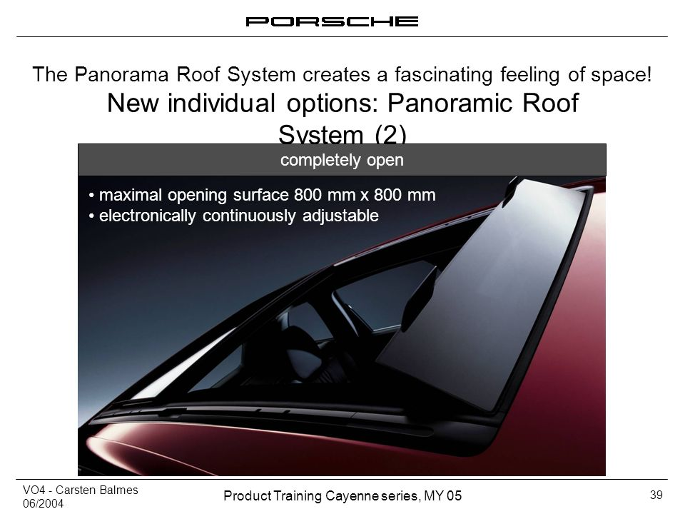 New individual options: Panoramic Roof System (2)
