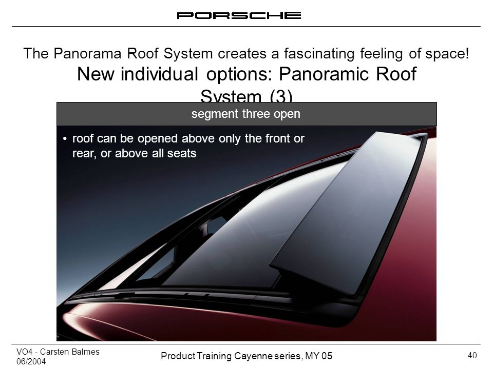 New individual options: Panoramic Roof System (3)