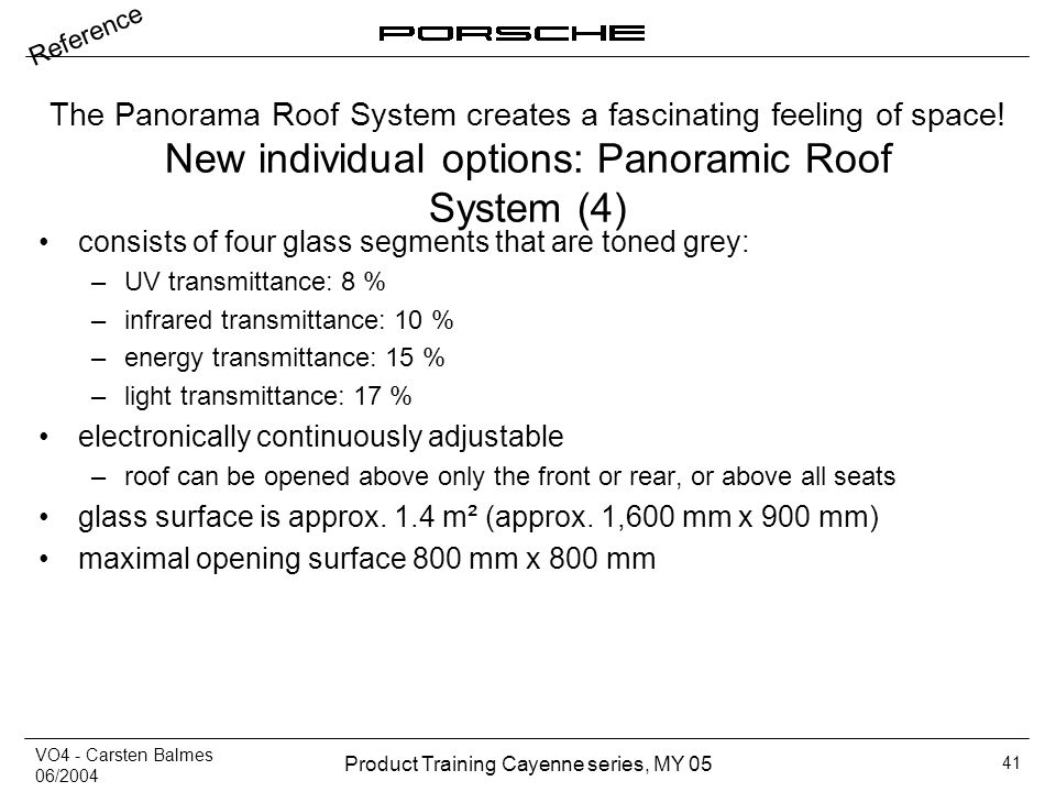 New individual options: Panoramic Roof System (4)