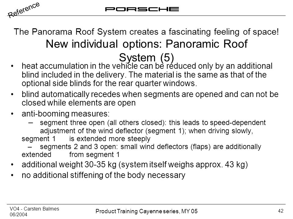 New individual options: Panoramic Roof System (5)