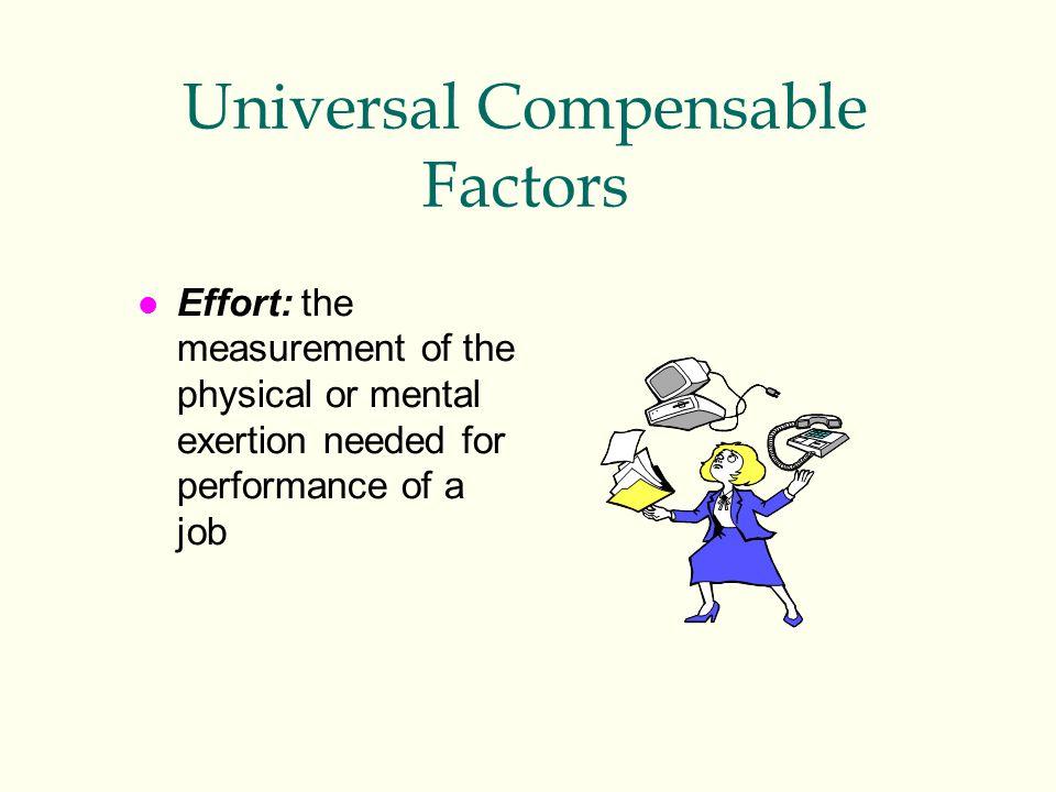 Universal Compensable Factors