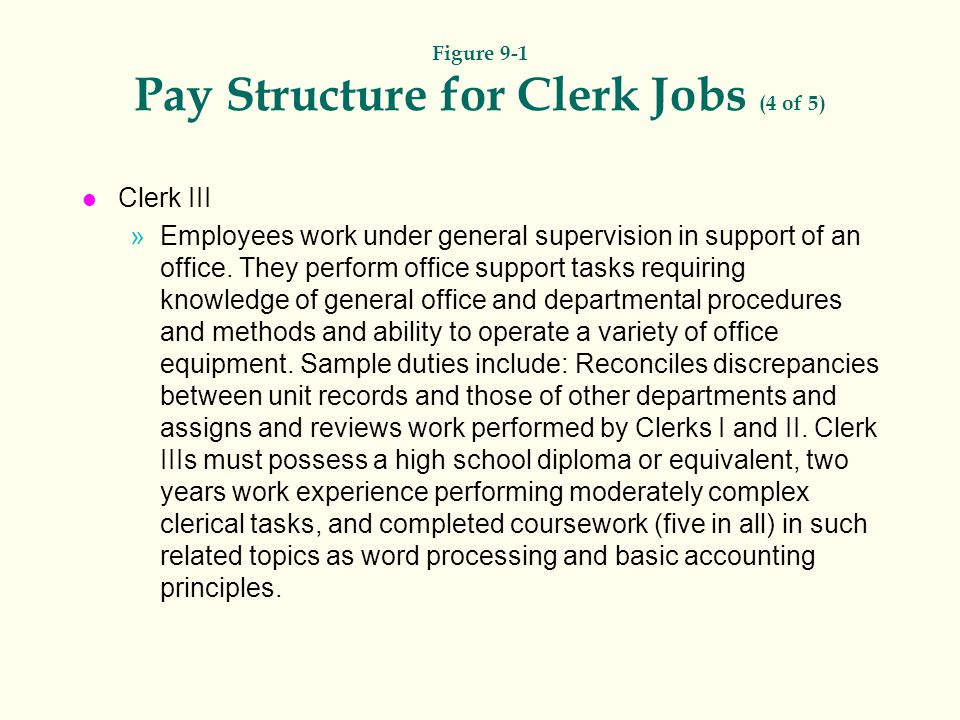 Figure 9-1 Pay Structure for Clerk Jobs (4 of 5)
