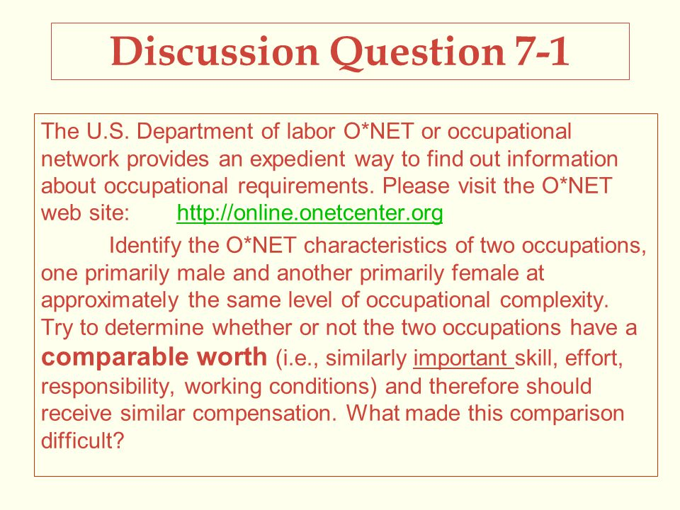 Discussion Question 7-1