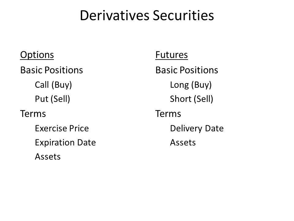 Derivatives Securities