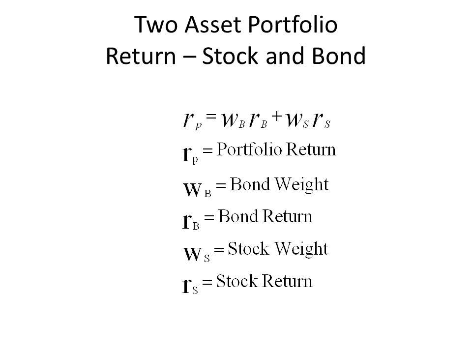 Two Asset Portfolio Return – Stock and Bond