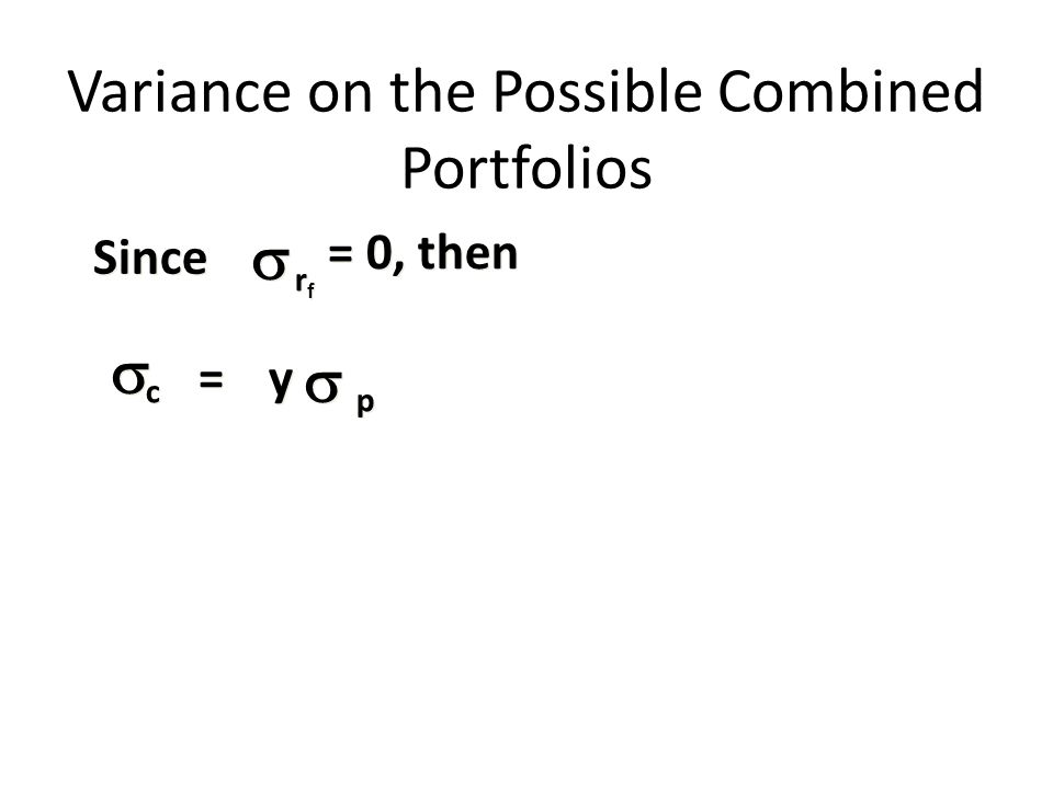 Variance on the Possible Combined Portfolios