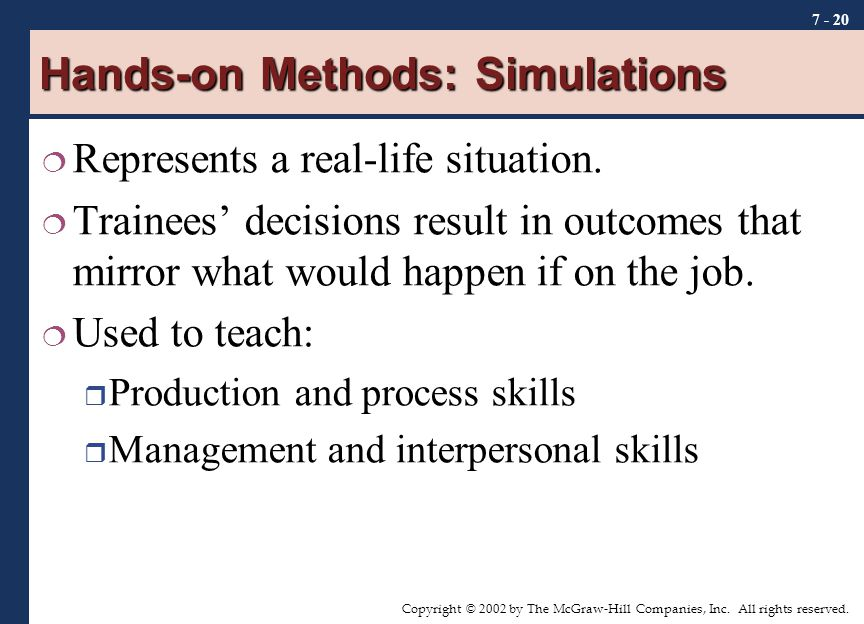 Hands-on Methods: Simulations
