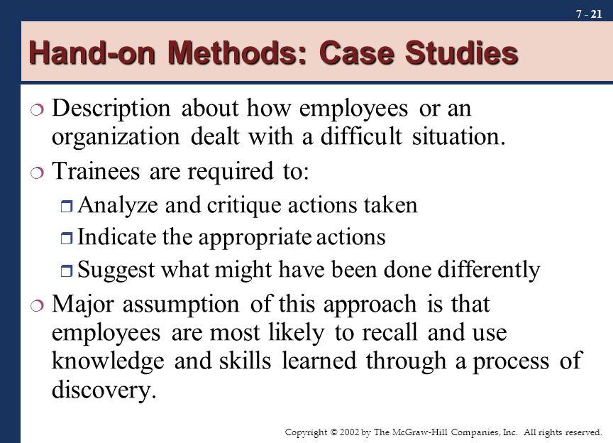 Hand-on Methods: Case Studies