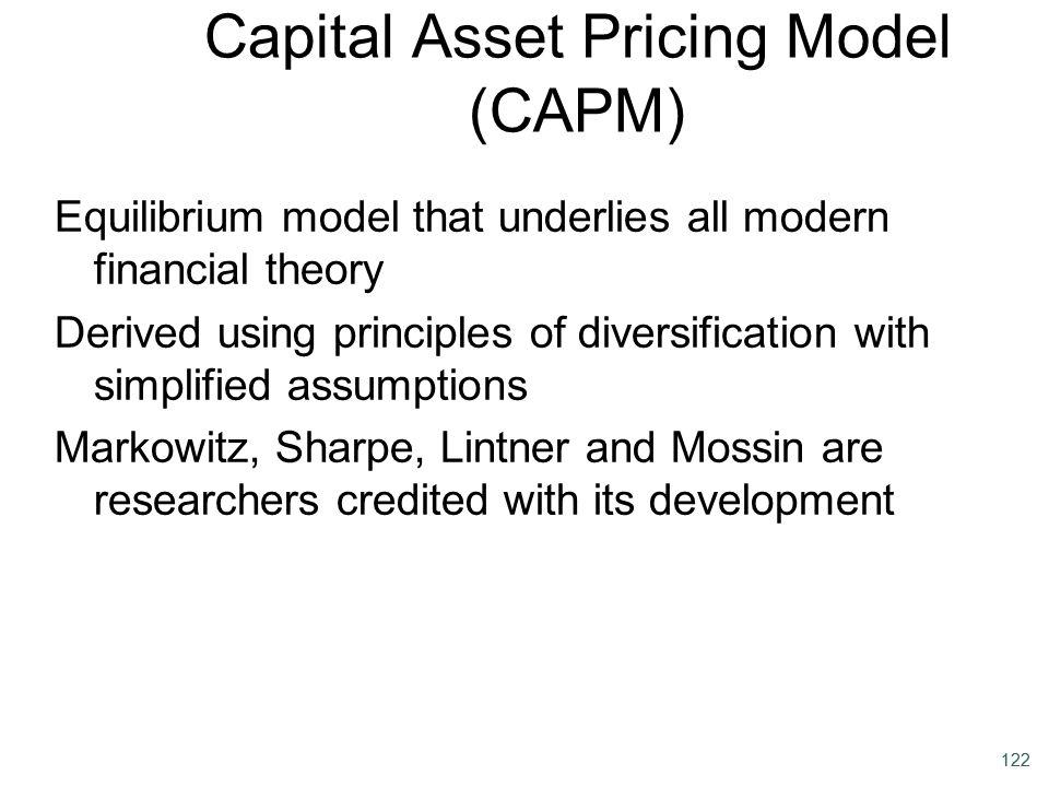 Capital Asset Pricing Model (CAPM)
