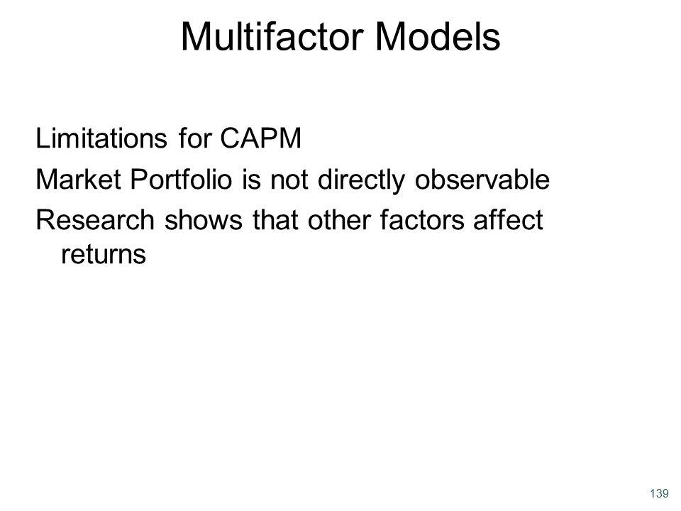Multifactor Models Limitations for CAPM