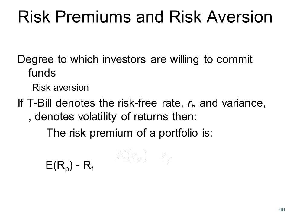 Risk Premiums and Risk Aversion