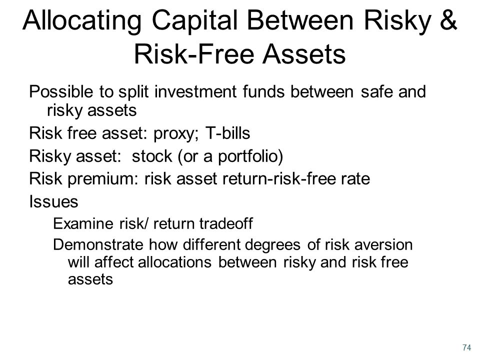 Allocating Capital Between Risky & Risk-Free Assets