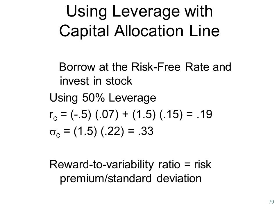 Using Leverage with Capital Allocation Line