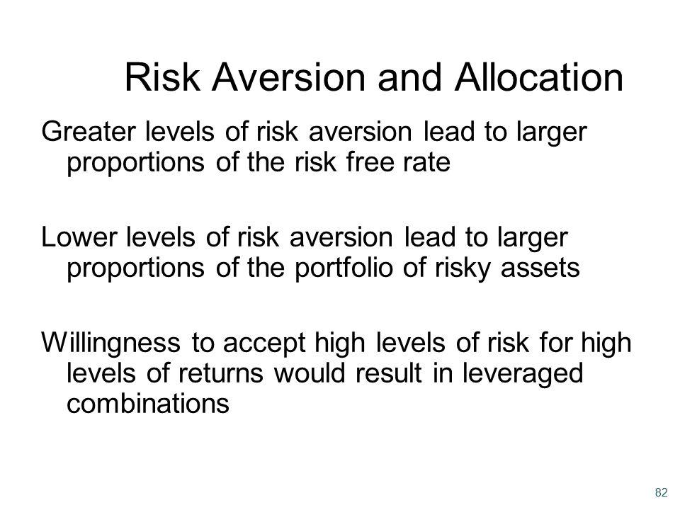 Risk Aversion and Allocation