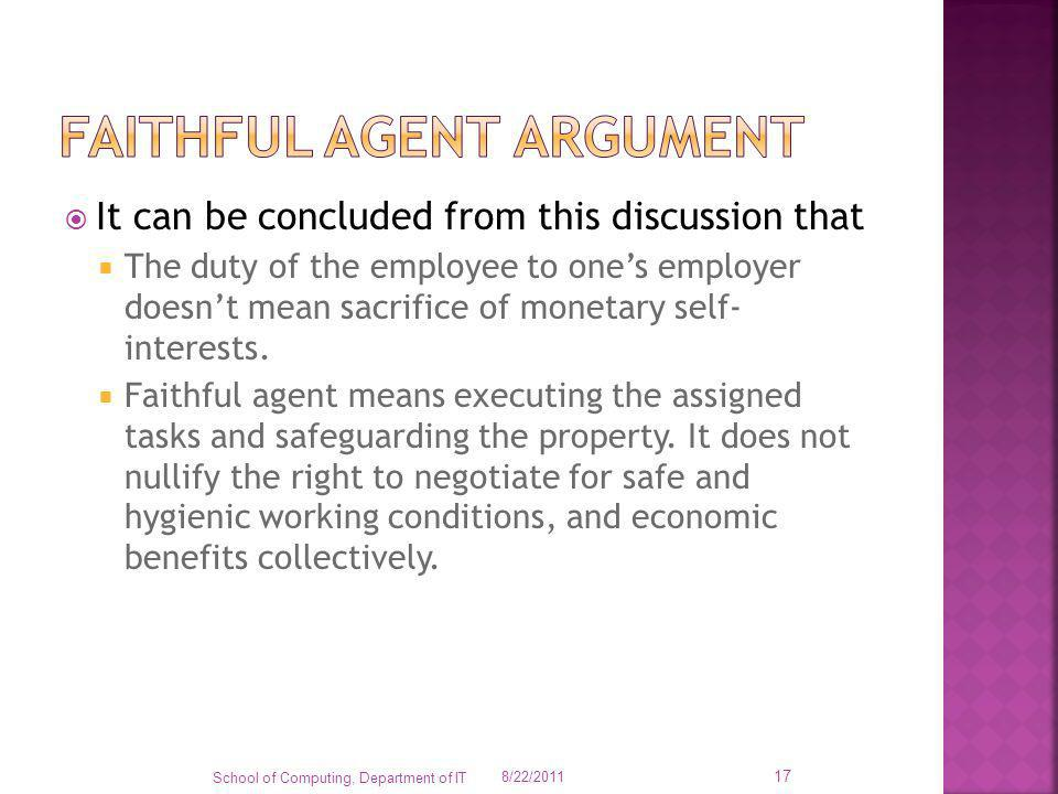 faithful agent argument