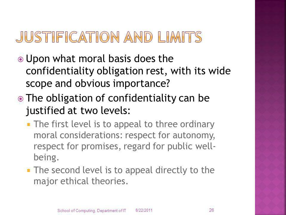 Justification and limits