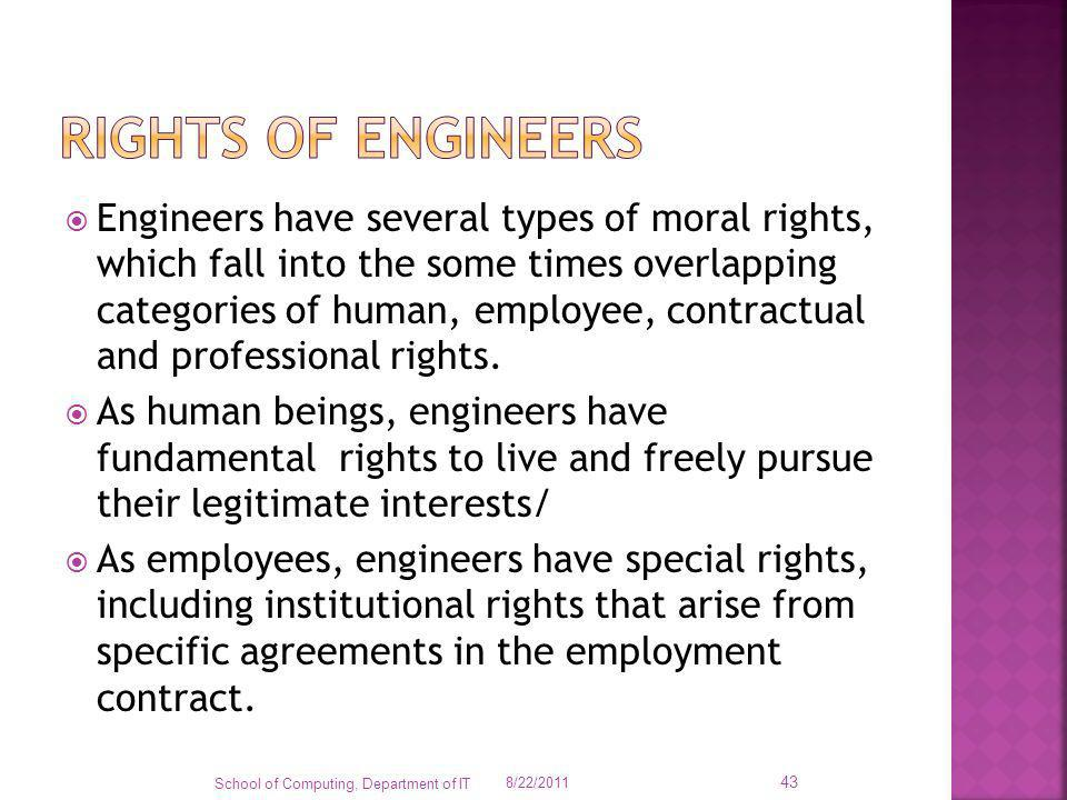 Rights of engineers