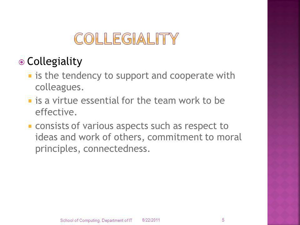 Collegiality Collegiality