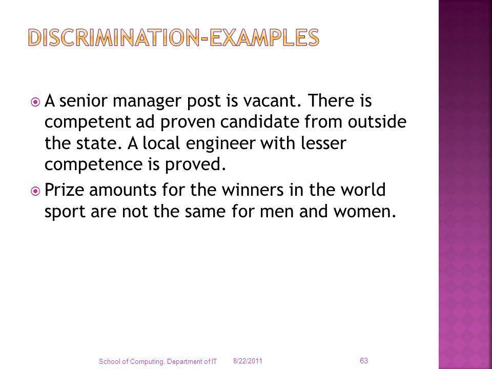 Discrimination-examples