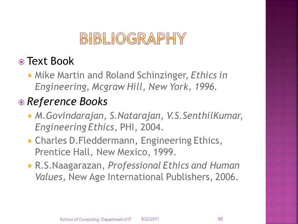 bibliography Text Book Reference Books