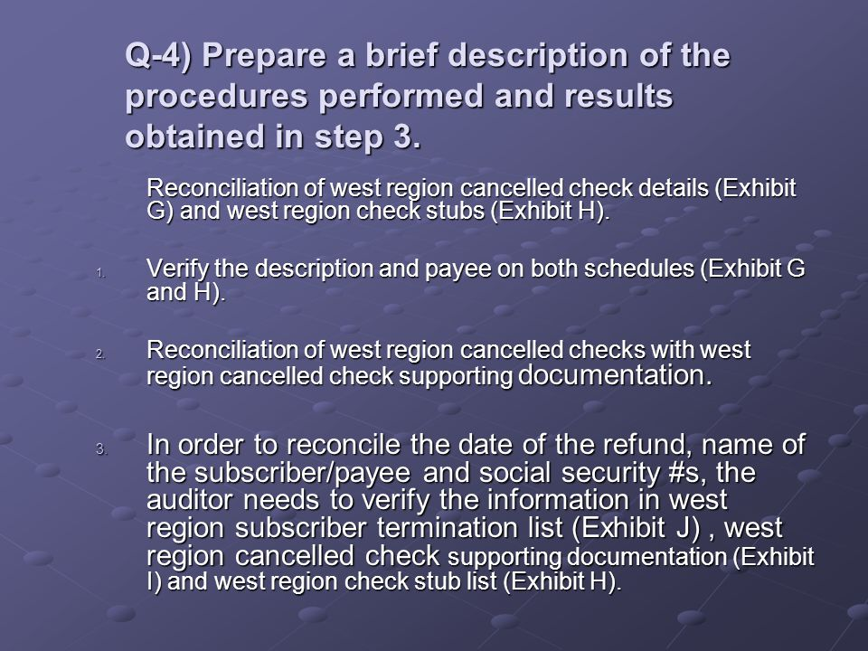 Q-4) Prepare a brief description of the