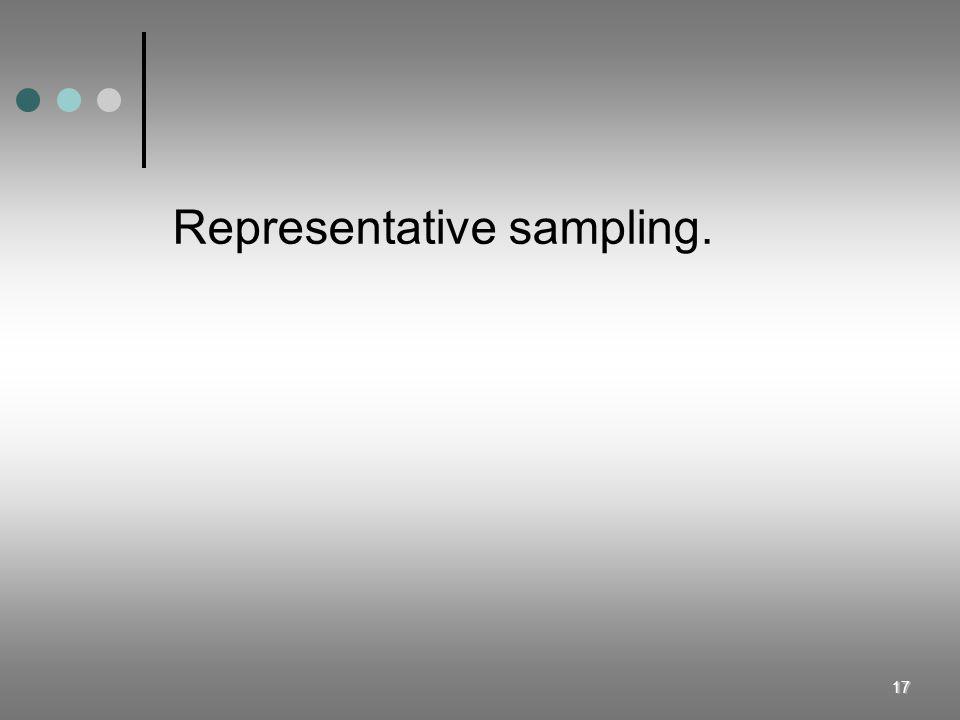 Representative sampling.