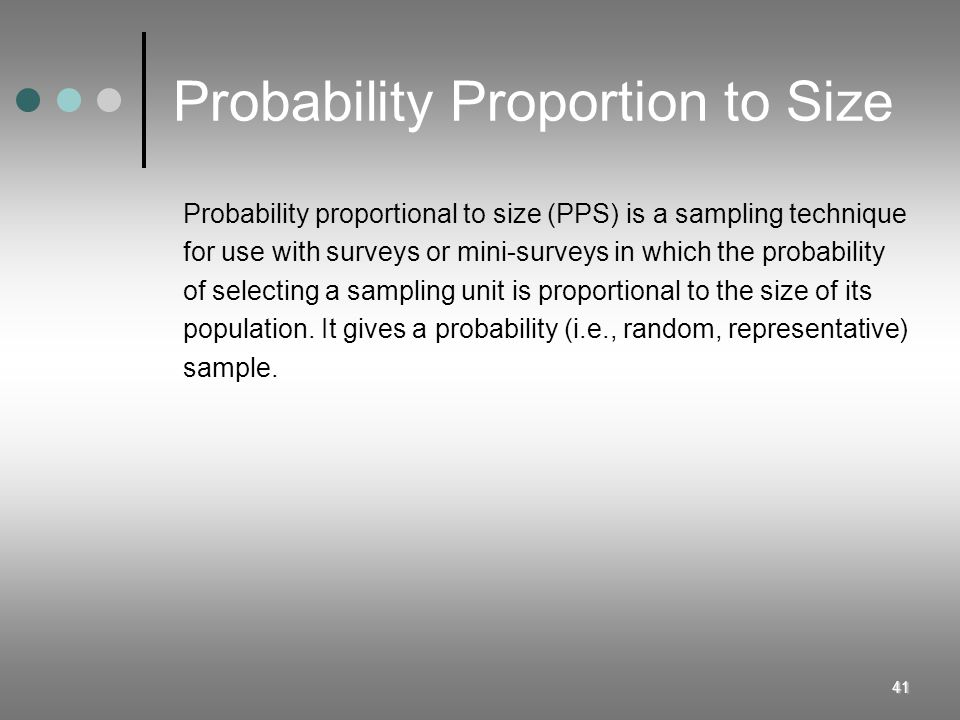 Probability Proportion to Size
