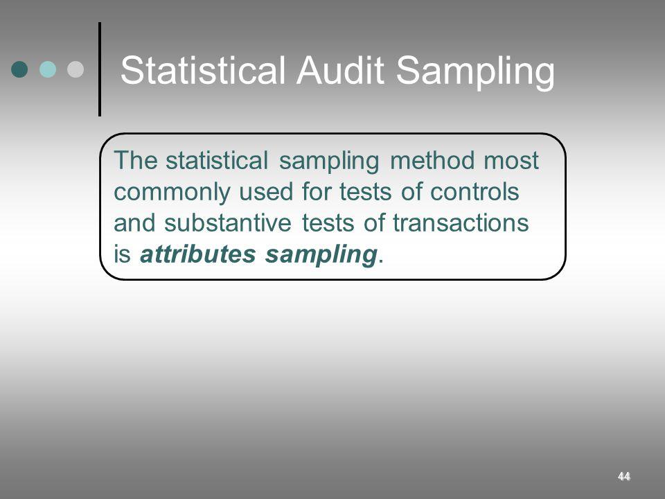 Statistical Audit Sampling