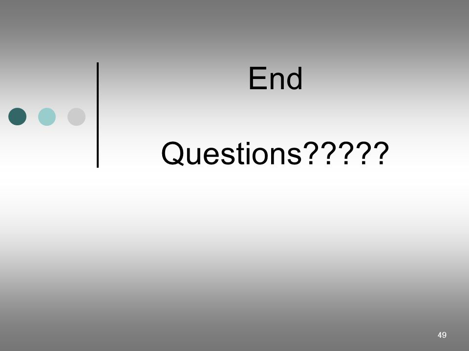 End Questions