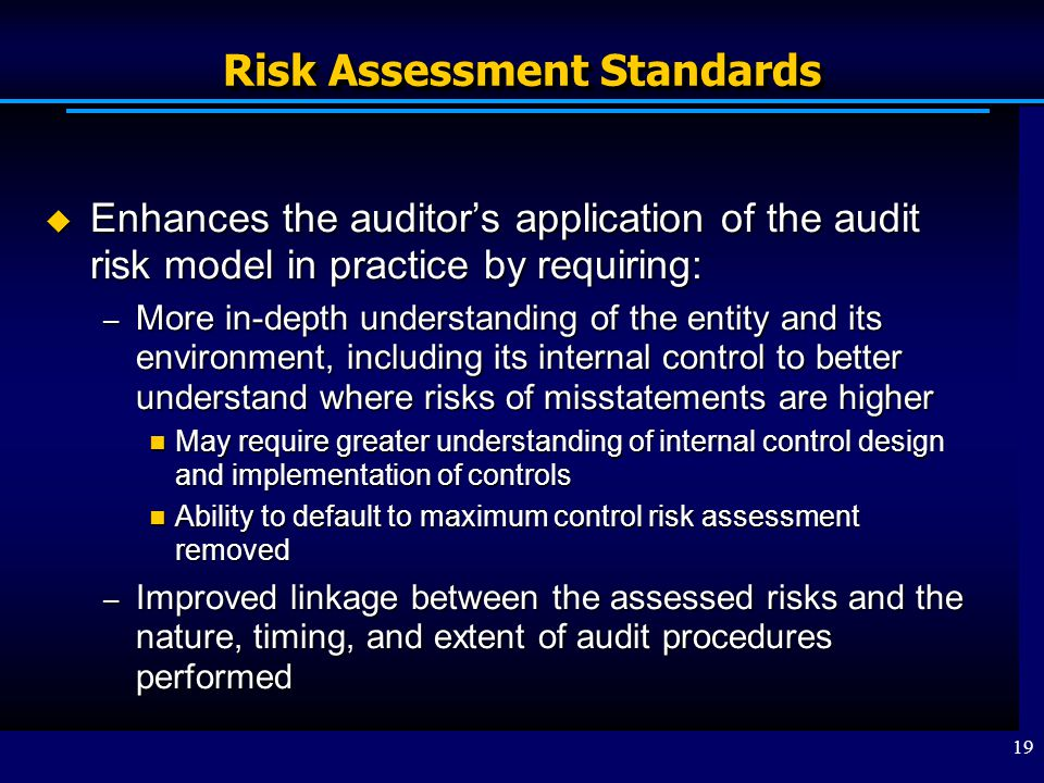 Risk Assessment Standards