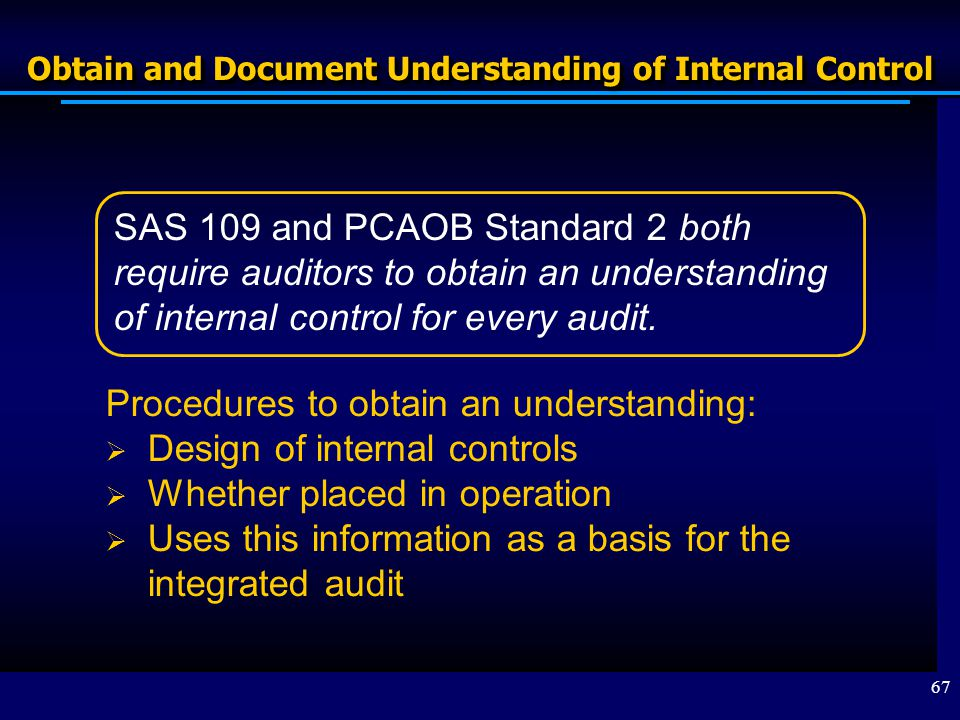 audit internal control narrative Start studying audit: internal control & control risk learn vocabulary, terms, and more with flashcards, games, and other study tools.