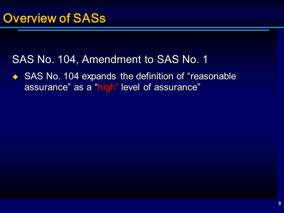 Overview of SASs SAS No. 104, Amendment to SAS No. 1