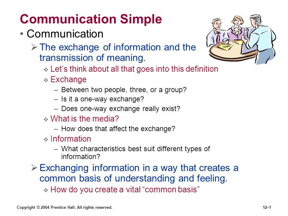 Communication Simple Communication