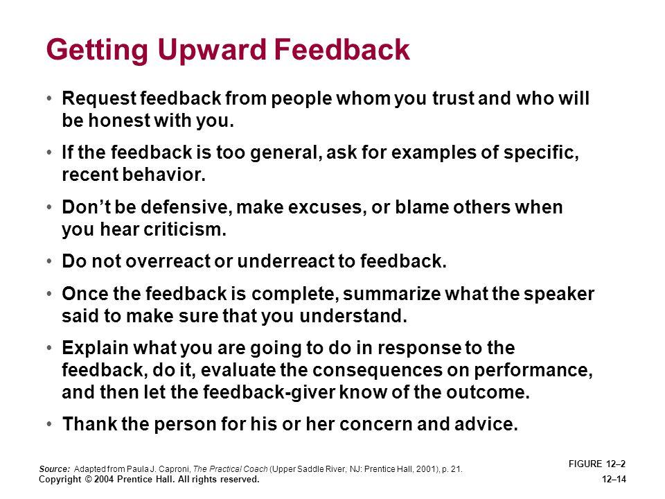 Getting Upward Feedback