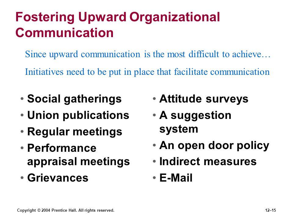 Fostering Upward Organizational Communication