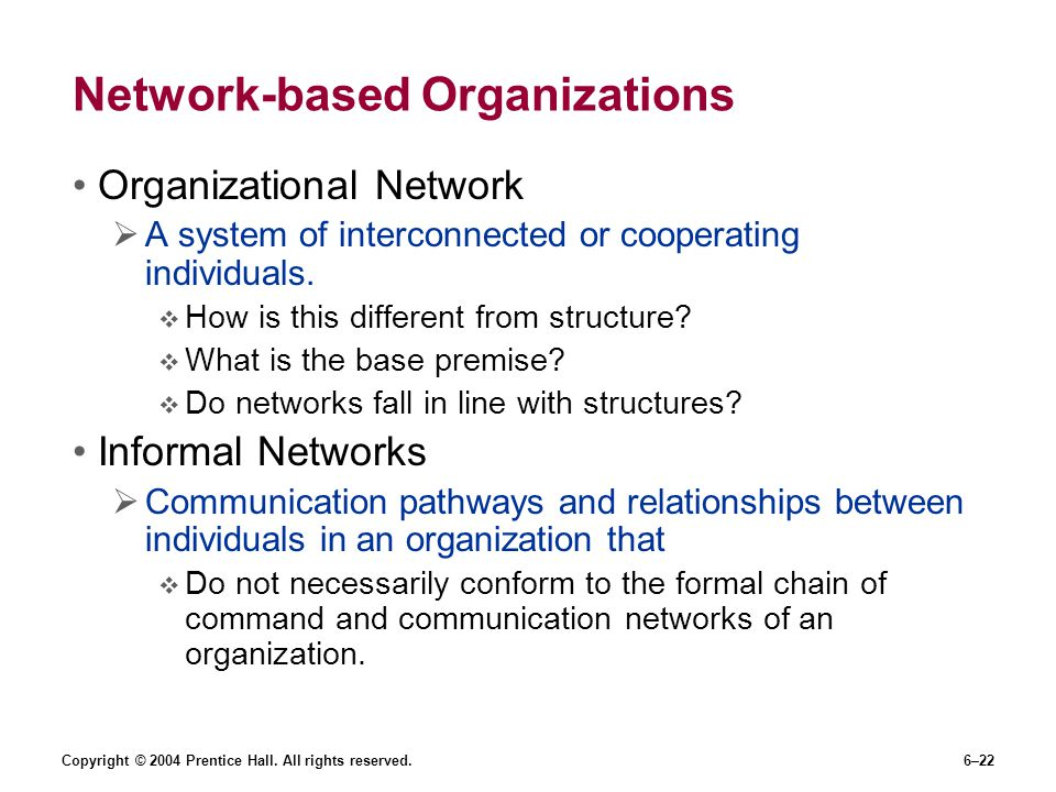 Network-based Organizations