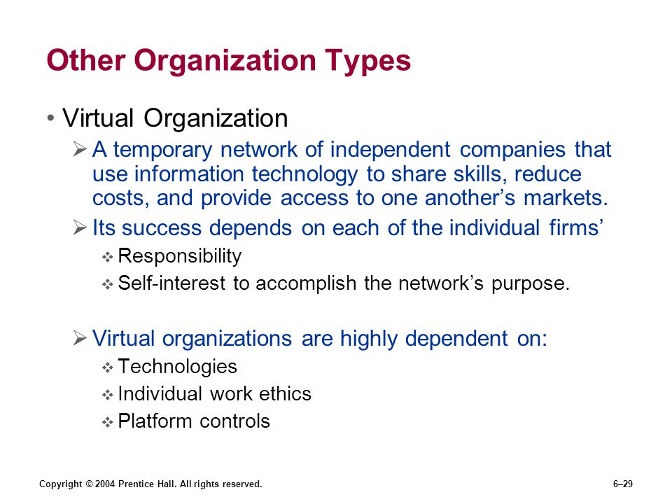 Other Organization Types