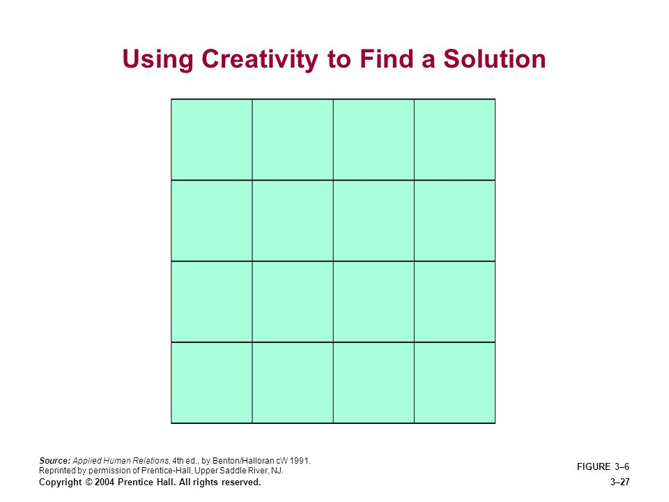 Using Creativity to Find a Solution